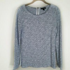 J. Crew | sweater zip back heather gray size small